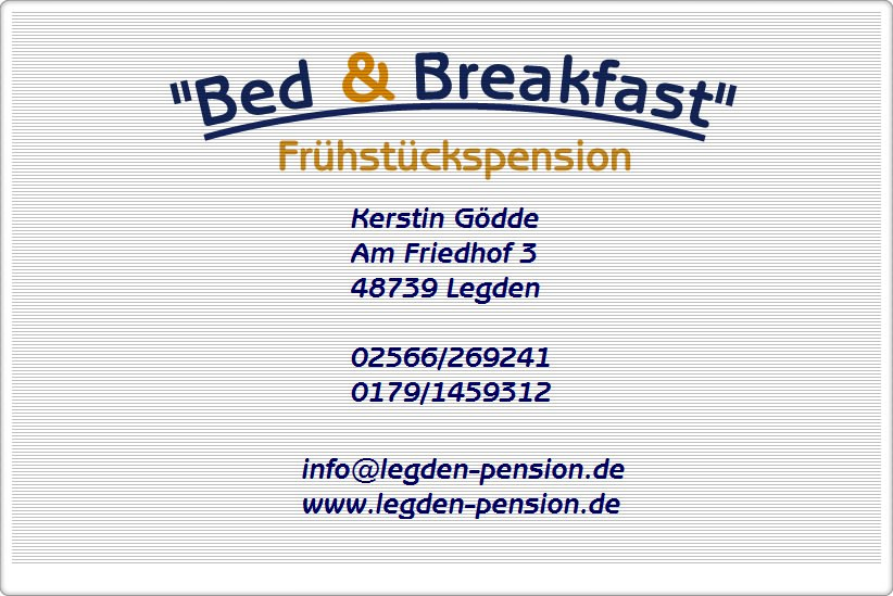 Pension, Hotel, Legden