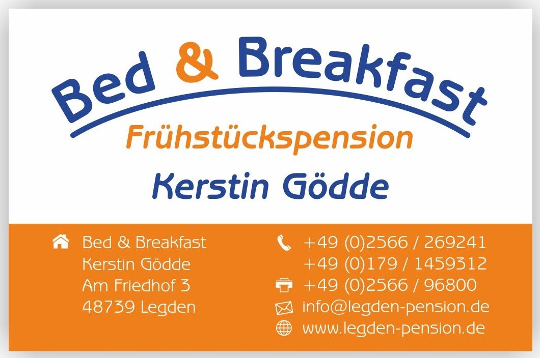 Visitenkarte Bed & Breakfast Hotel