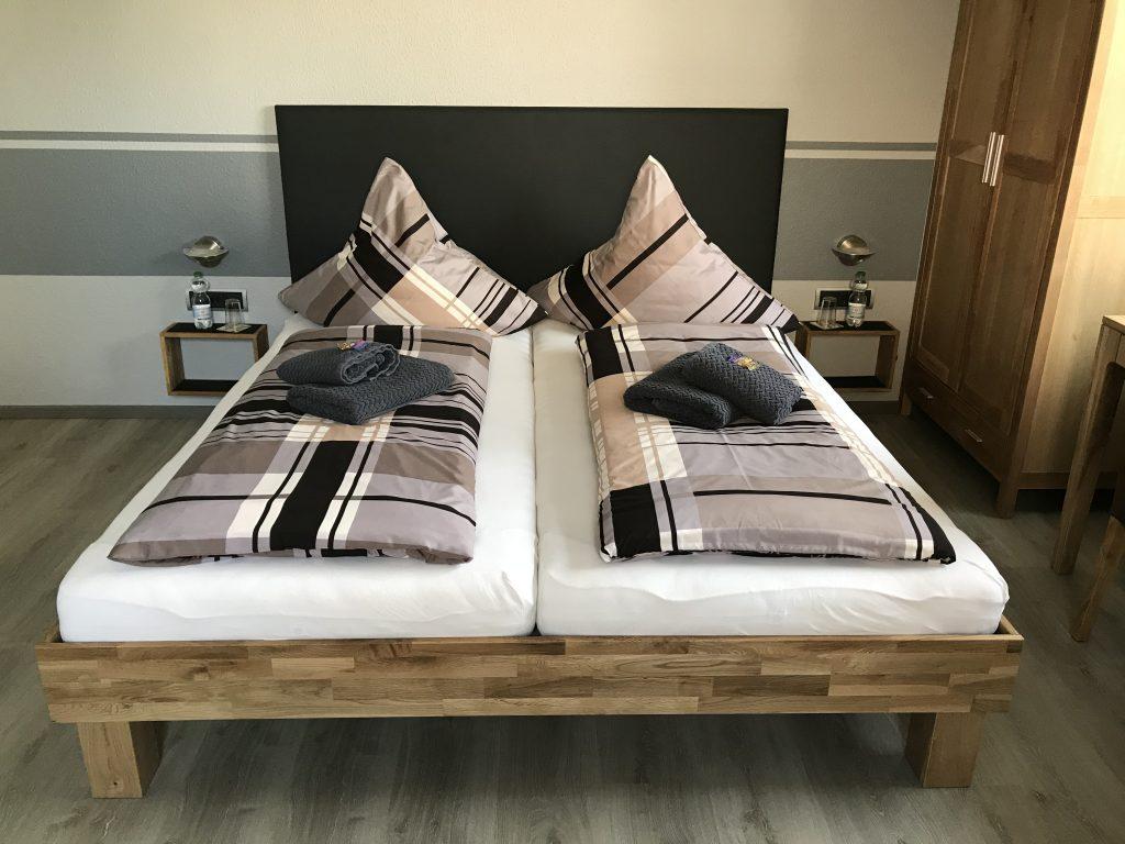 Doppelbett in der Oase Legden.