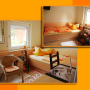 Zimmer Orange in der Bed & Breakfast Pension.